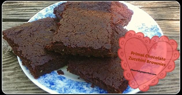 Primal Chocolate Zucchini Brownies
