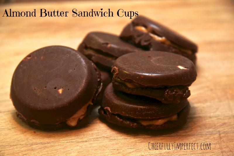 Almond Butter Sandwich Cups
