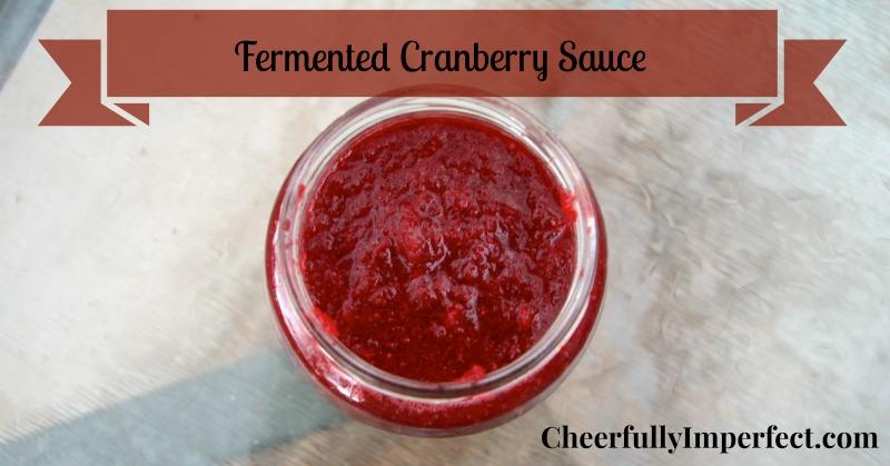 Fermented Cranberry Sauce – made with Water Kefir Grains
