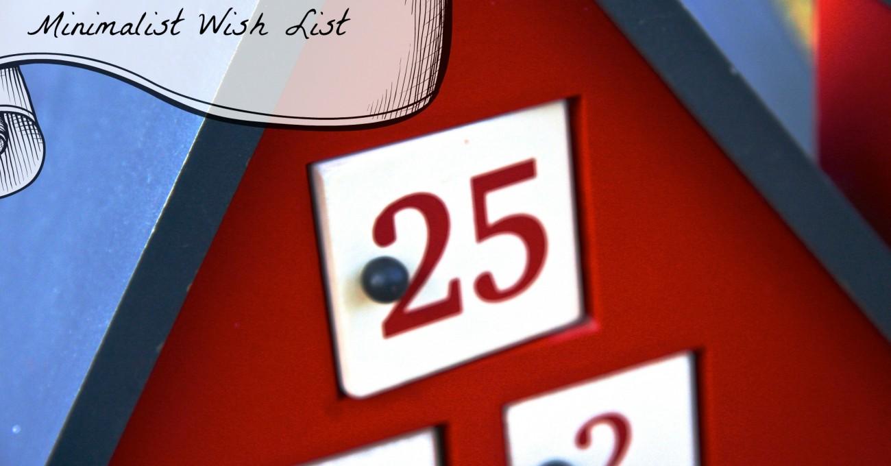 Minimalist Holiday Wish List
