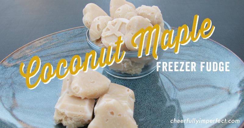 3 Ingredient Coconut Maple Freezer Fudge