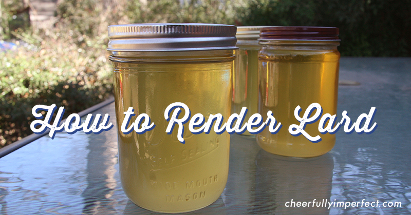 How to Render Lard – easy crockpot method