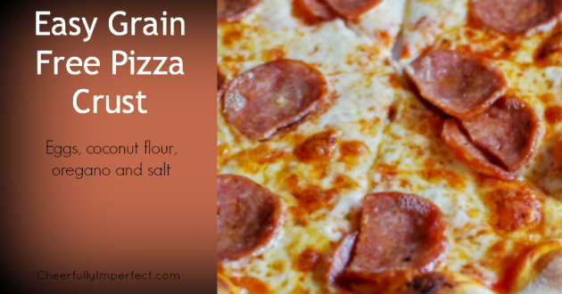 Easy Grain Free Pizza Crust