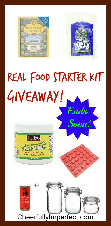 Real Food Starter Kit Giveaway End April 1st!