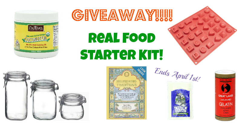 March Giveaway! A Real Food Starter Kit!