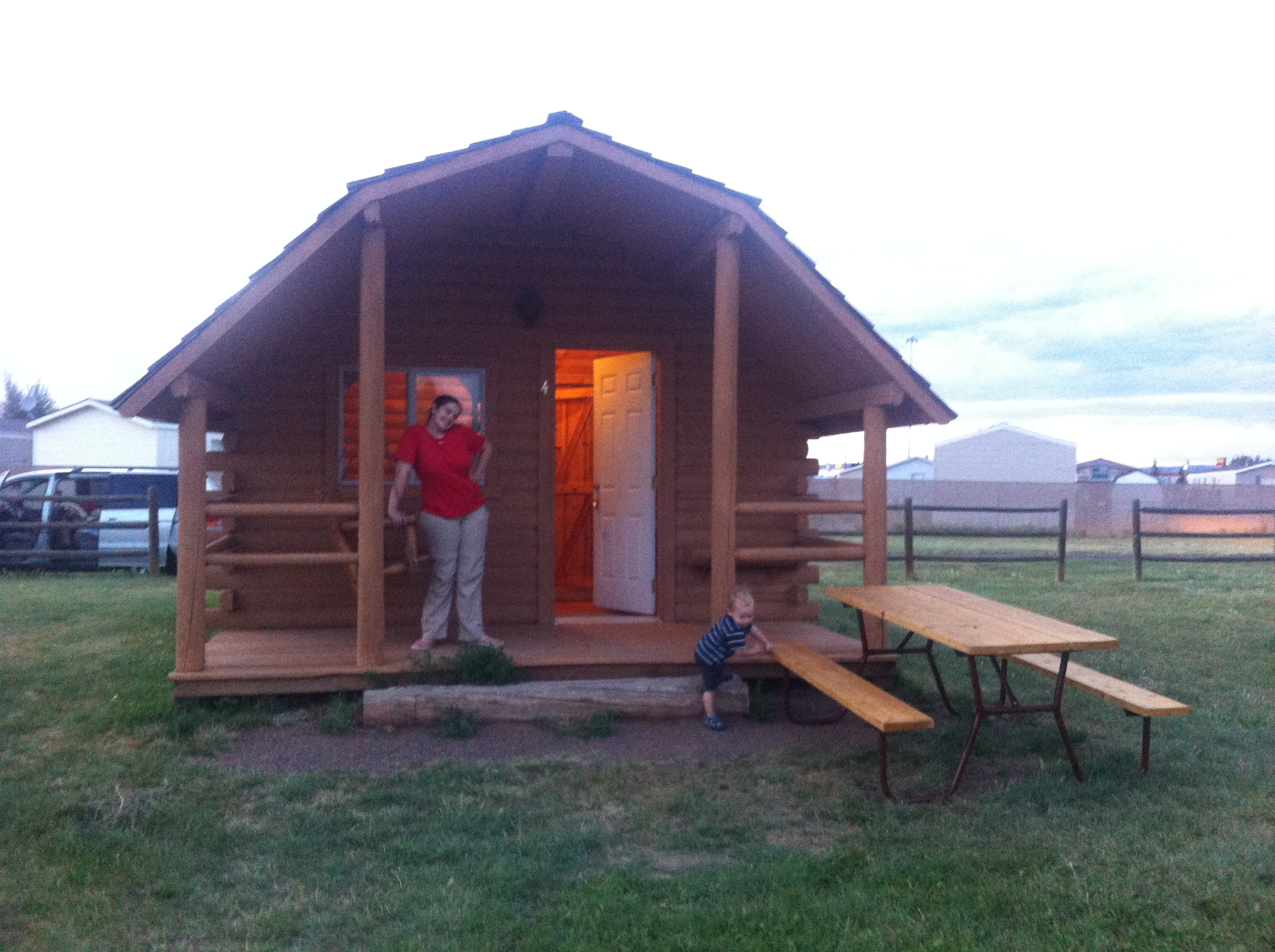 Cabin in Wyoming. Living the tiny house dream... ;-)