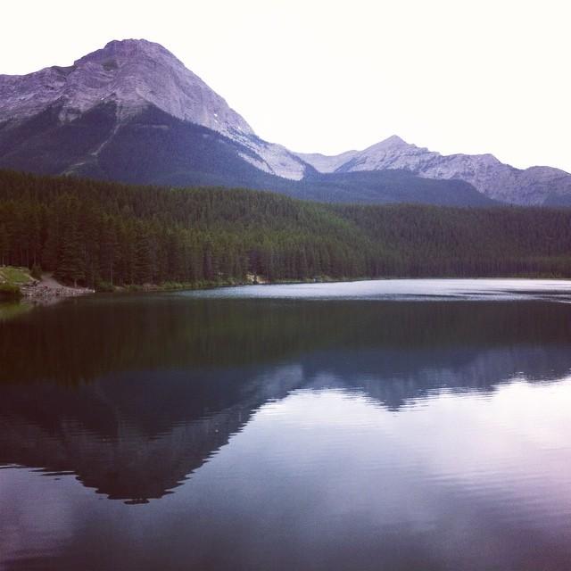 Chinook Lake, where we camped Monday through Wednesday