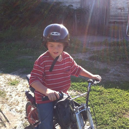 His first time to ever ride a dirt bike with our Chilliwack BC Cousins