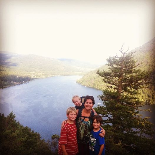 The kids did an amazing job of hiking to the top of Gibralter Rock. So proud of them! Paul Lake in the background.