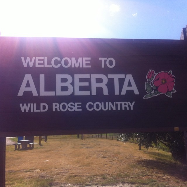 We arrived in Alberta, Canada on Friday, July 25th