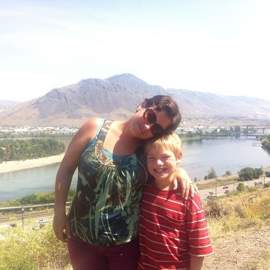 Our Lookout over Kamloops, BC. I used to walk here all the time with this boy when he was just a baby.