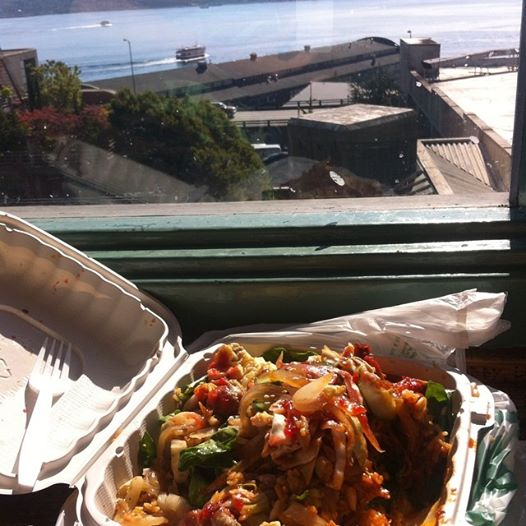 Bibimbap with an ocean view at Pikes Place Market