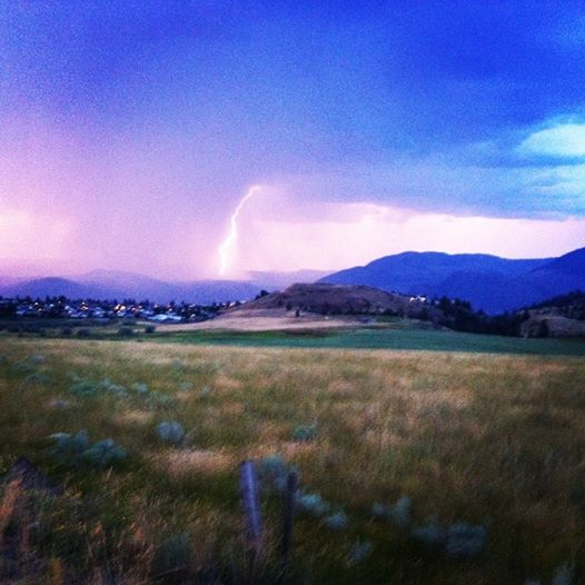 The amazing lightning storm over Kamloops last night.
