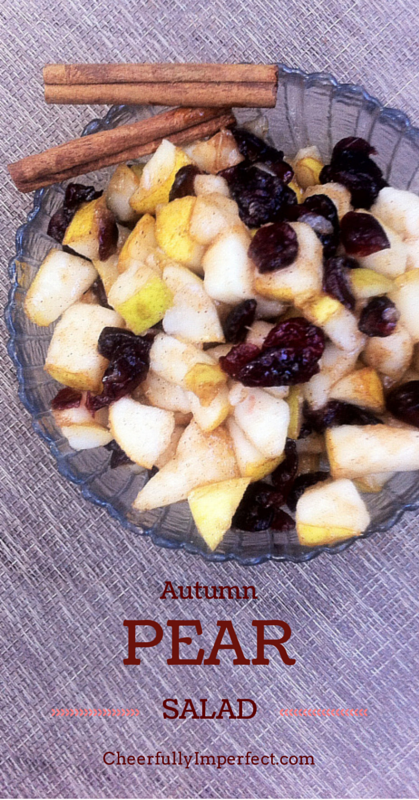 Autumn Pear Salad #realfood #autumnrecipes