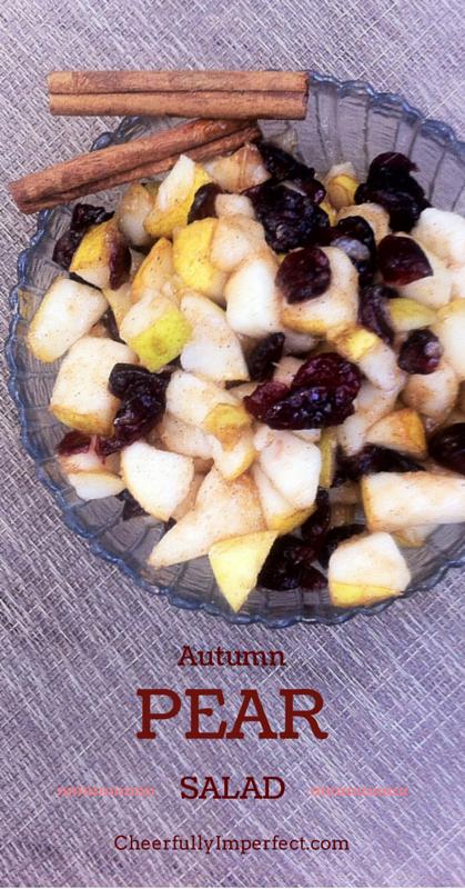 Autumn Pear Salad #realfood #autumnrecipes