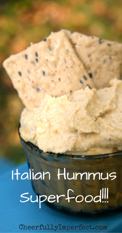 Italian Hummus - Immune Boosting superfood. #hummus #superfood