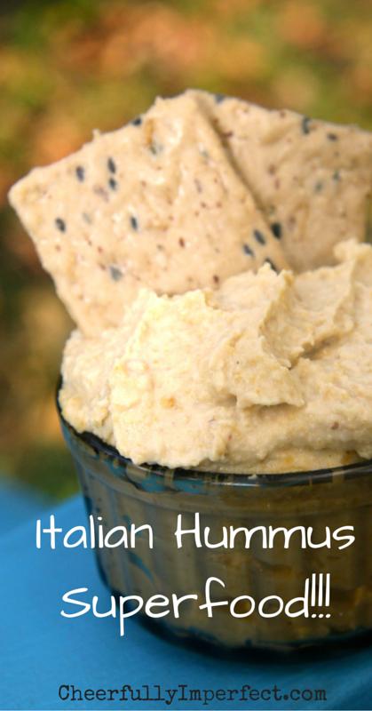 Italian Hummus - Immune Boosting superfood. #hummus #superfood