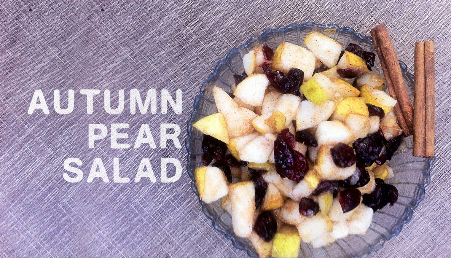 Autumn Pear Salad
