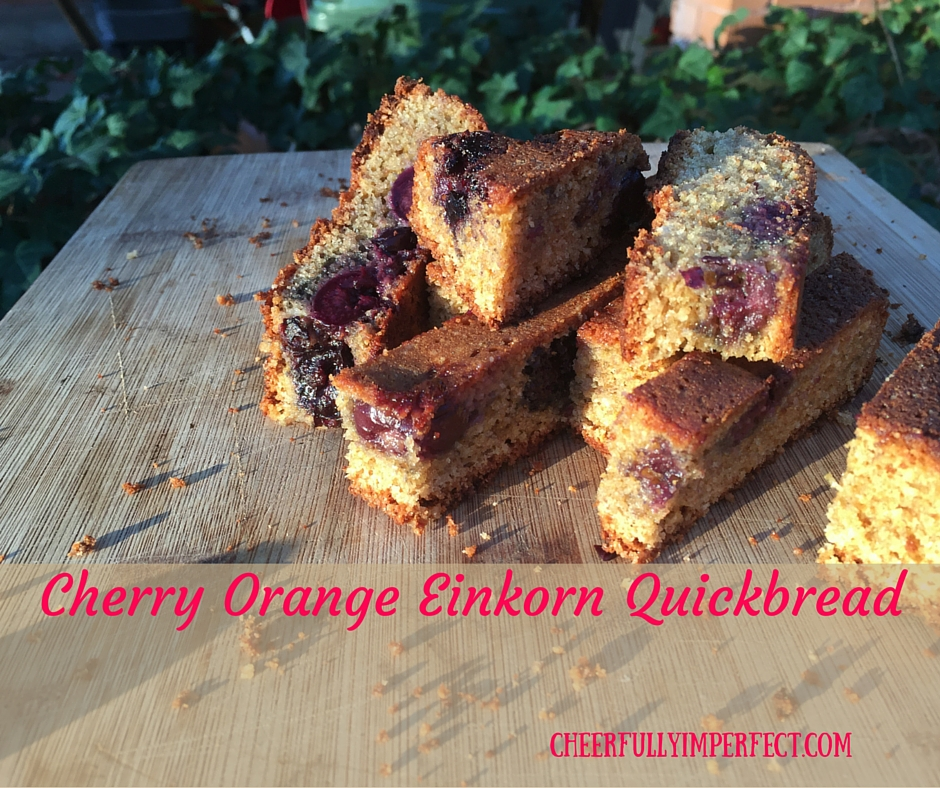 Cherry Orange Einkorn Quickbread