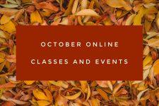 October Online Events!